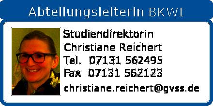 BKWI Abteilungsleiterin Christian Reichert