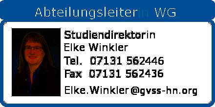 Abteilungsleiterin WG Elke Winkler