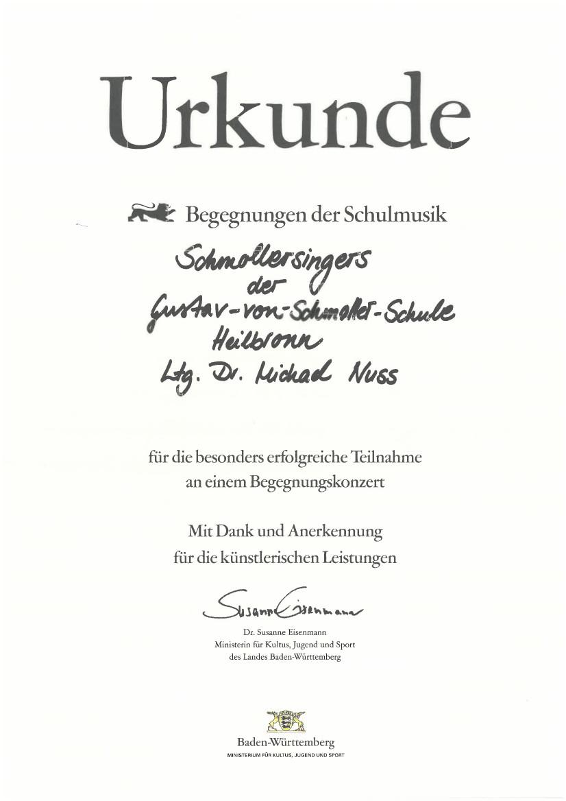 A capella vom Feinsten- Der Auftritt der Schmoller Singer beim großen Konzert der Heilbronner Schulen