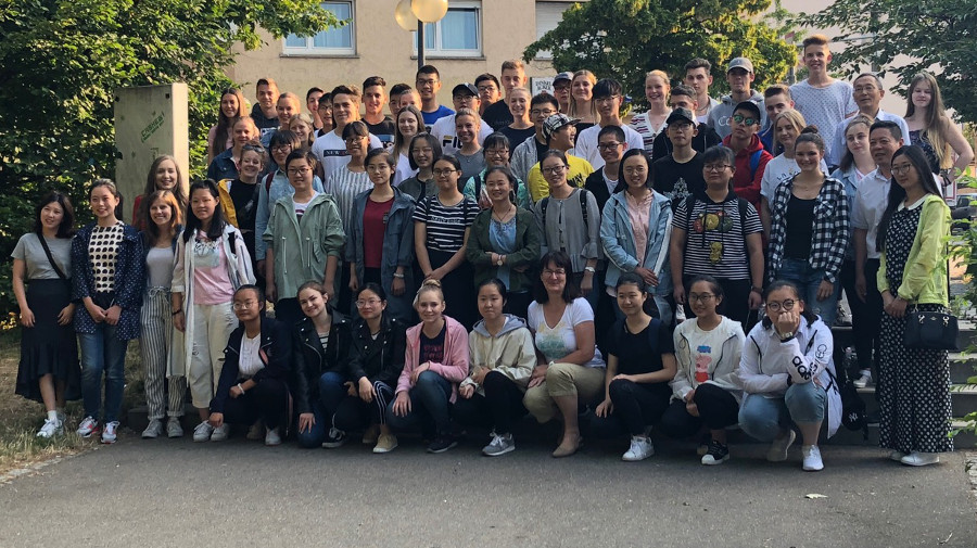 Ankunft der Chinesen in Heilbronn: